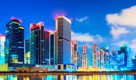Dubai with Mauritius